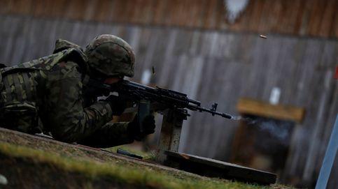 Entrenando con la milicia de voluntarios de Polonia