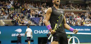 Post de El viento a favor de Rafa Nadal en el US Open y el partidazo que emocionó a Tiger Woods