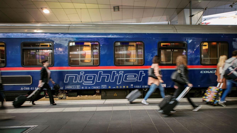 Foto: Tren nocturno austriaco en 2019. (EFE)