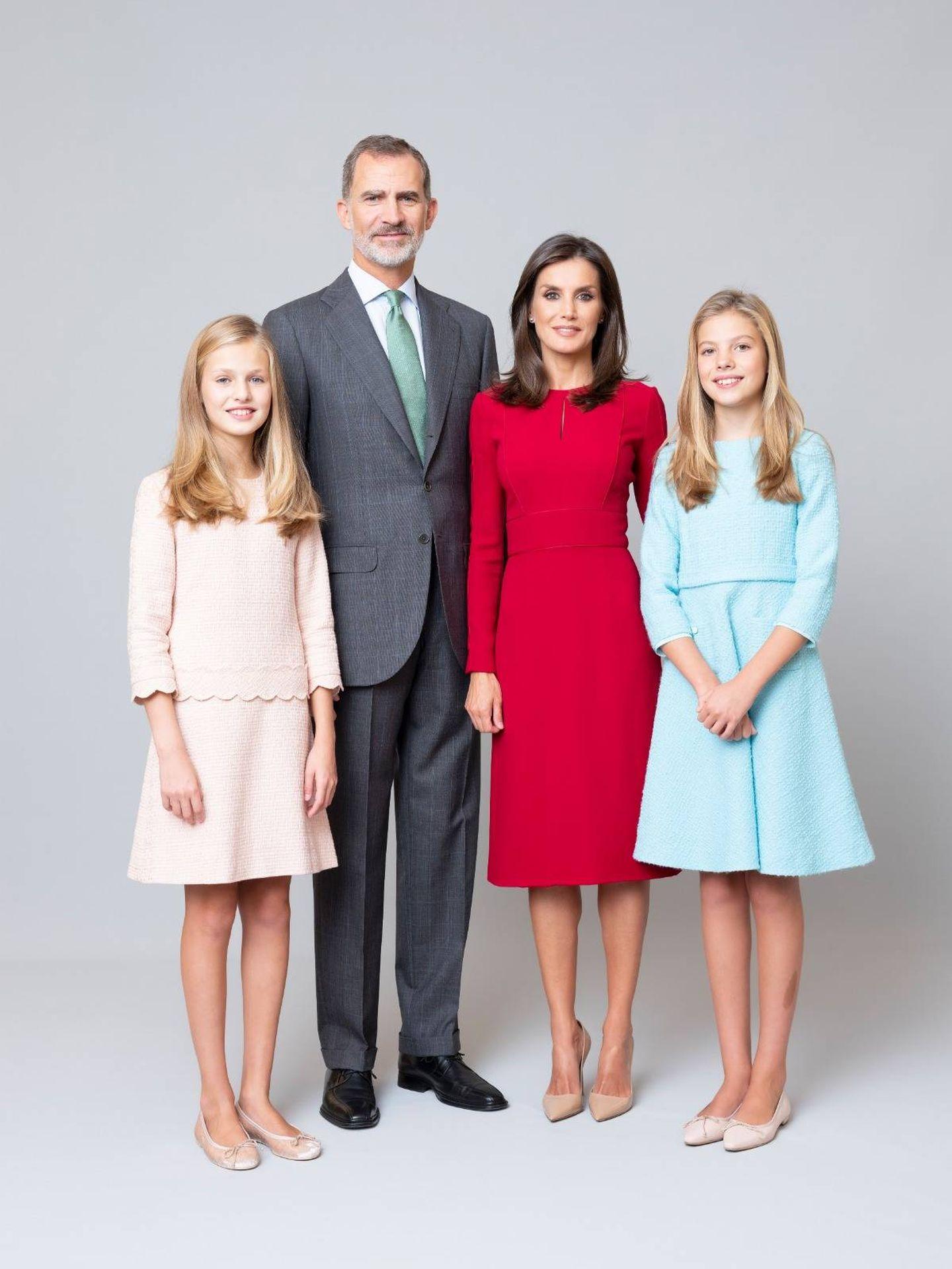 Fotografía oficial de la familia real. (Estela de Castro / Casa Real)