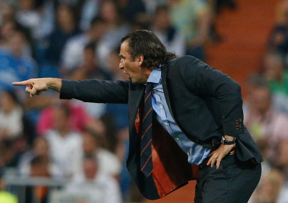 Foto: Juan Antonio Pizzi, durante un partido de la pasada temporada