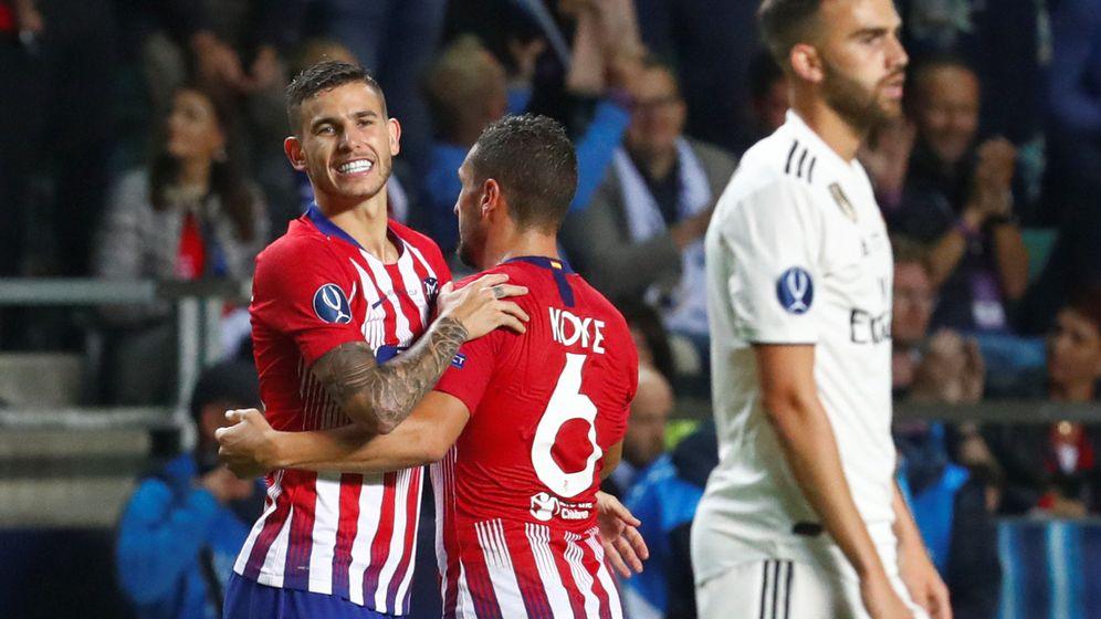 Foto: Lucas Hernández ganó la Supercopa de Europa con el Atlético al Real Madrid el 15 de agosto. (Reuters)