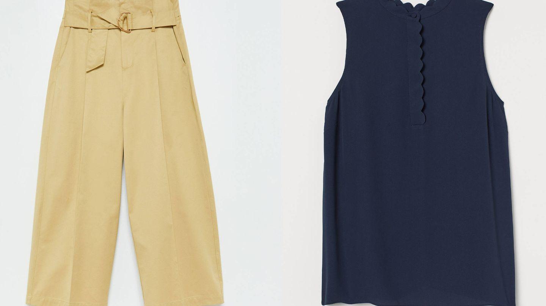 Pantalones de Sfera y blusa de H&M.