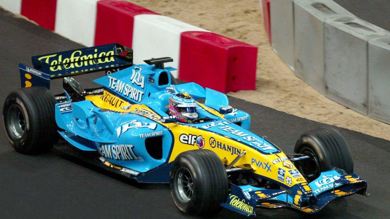 El Renault R26 con el que Fernando Alonso fue bicampeón del mundo. (Imago)
