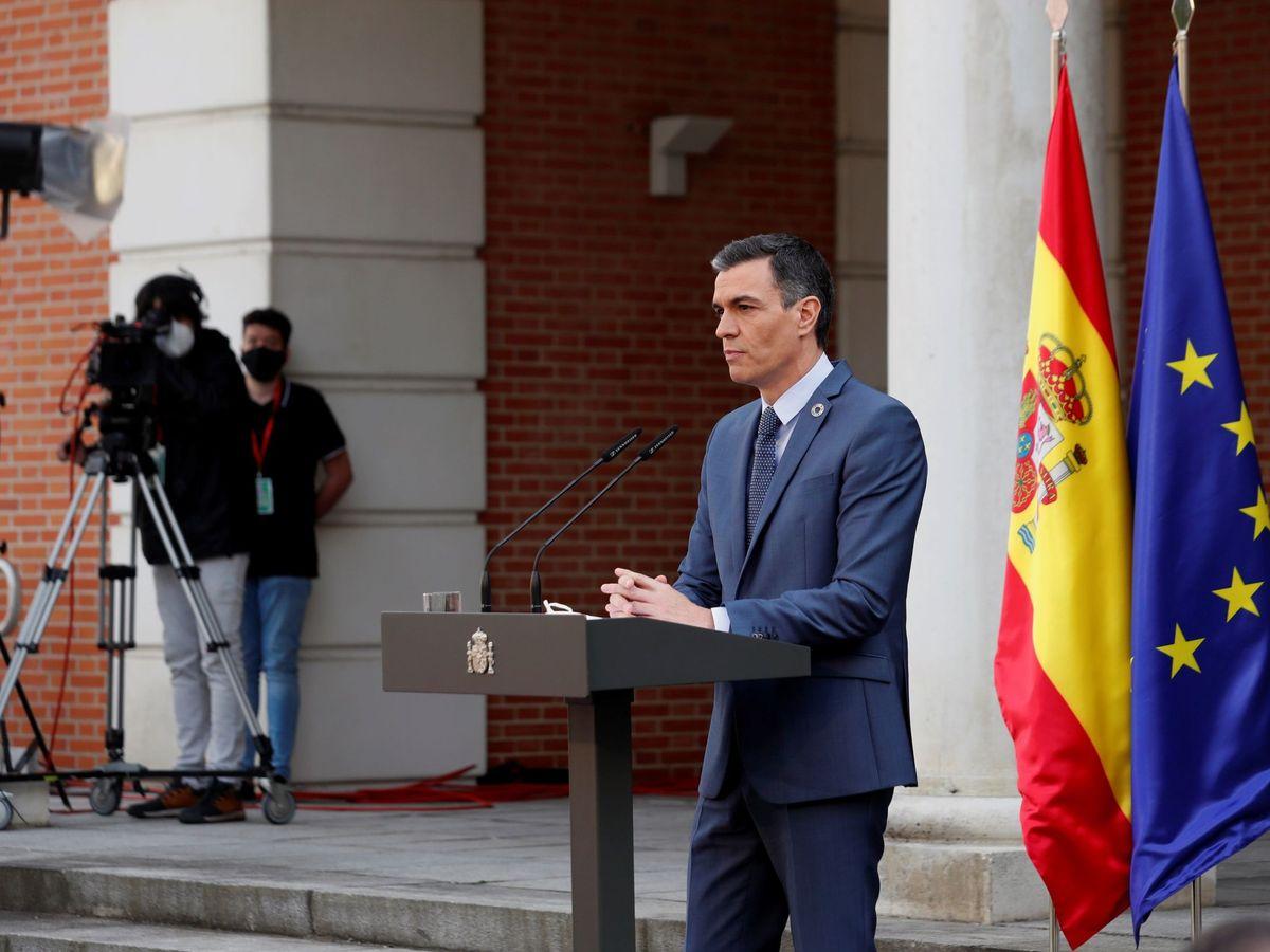 Foto: Rueda de prensa Pedro Sánchez.