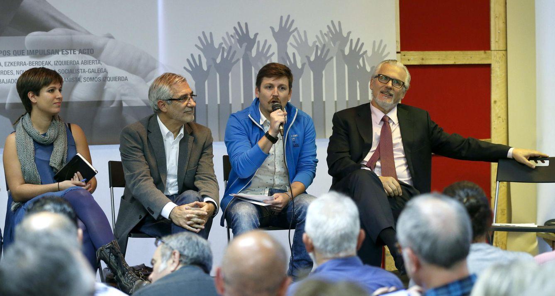 Beatriz Talegón, Gaspar Llamazares, Tasio Oliver y Baltasar Garzón, el pasado 30 de septiembre. (EFE)