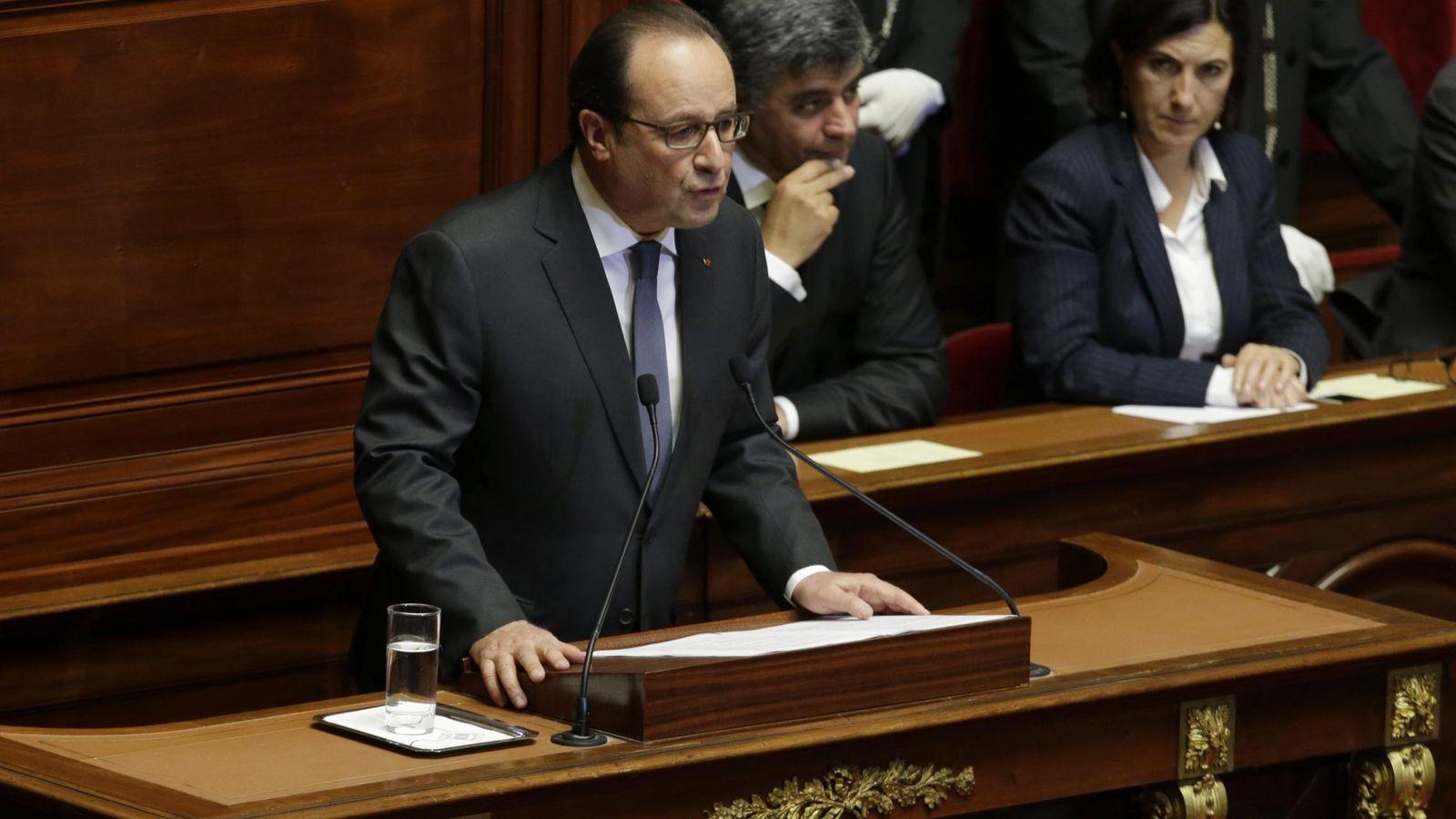 Foto: El presidente francés François Hollande se dirige a la nación tras los atentados del pasado viernes (EFE)