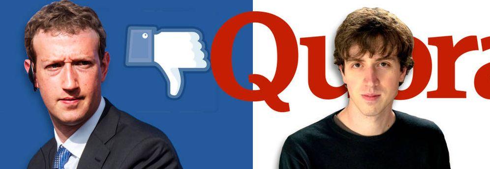 Foto: Adam D'Angelo (derecha) junto a Mark Zuckerberg