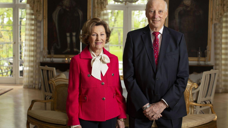 Los reyes Harald y Sonia, en una imagen reciente. (EFE)