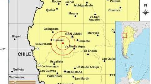 Un terremoto de 6,4 grados hace temblar fuerte varias zonas de Argentina