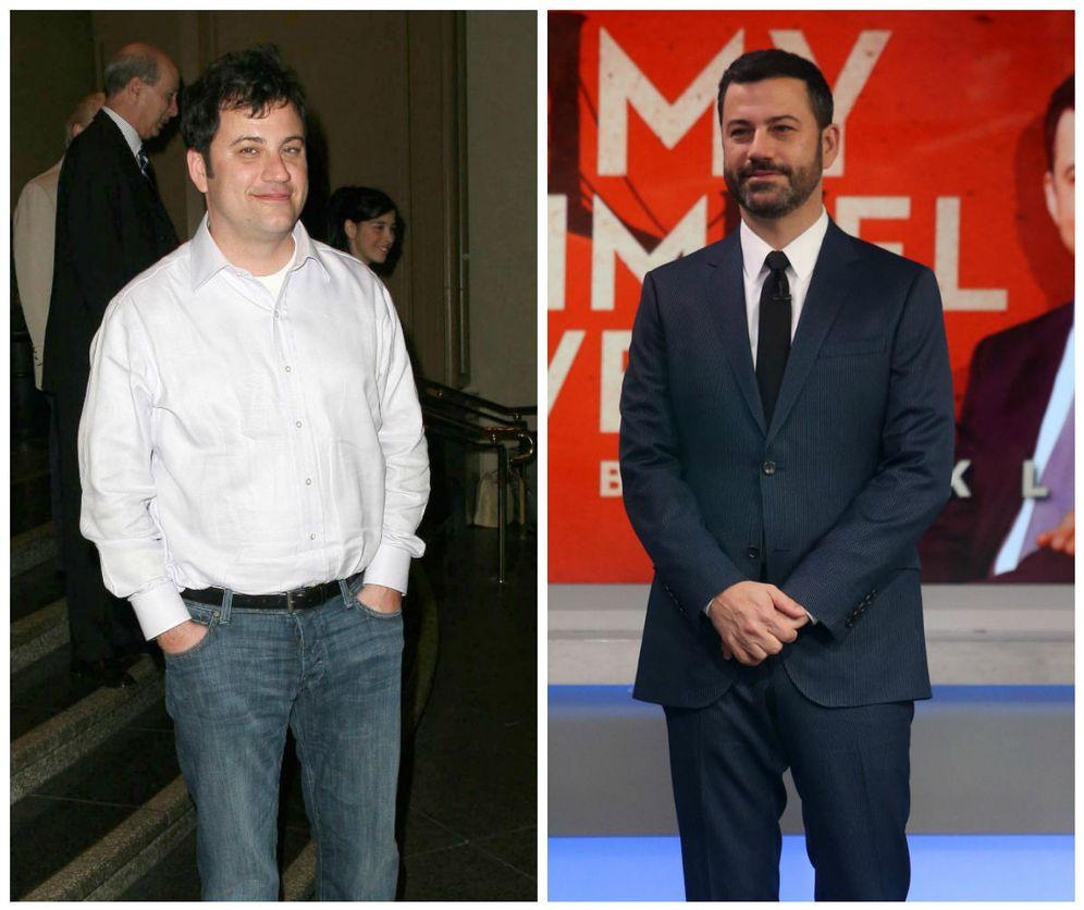 Foto: El antes y el después de Jimmy Kimmel. (Corbis)