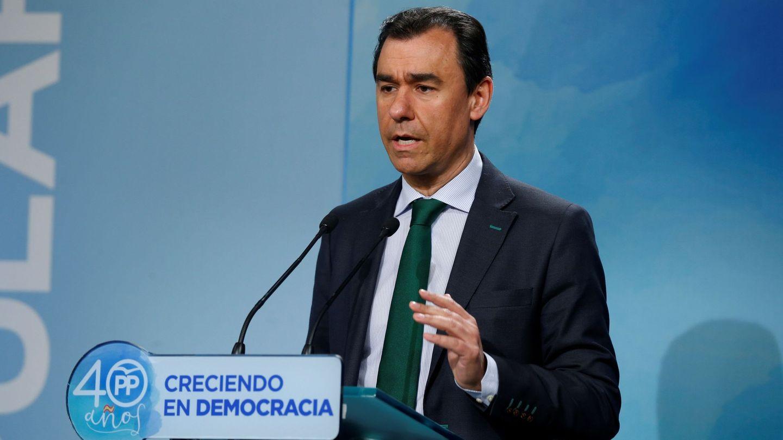 El coordinador general del PP, Fernando Martínez-Maillo, tras la reunión del comité de dirección. (EFE)