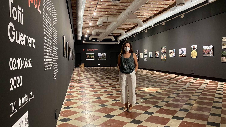 Toñi Guerrero, en la exposición de La Térmica (Agustín Rivera).