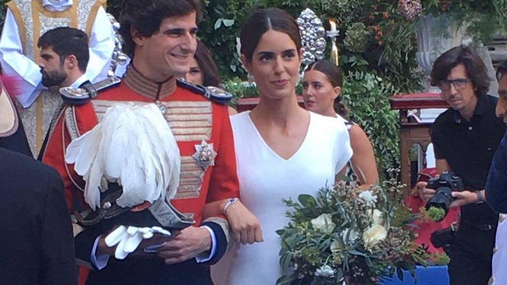 Foto: Los novios, recién casados.