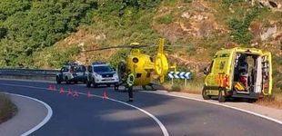 Post de Un hombre es evacuado en helicóptero por la picadura de abejas en Lugo