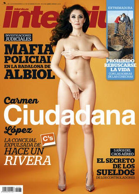 Carmen López, portada de Interviú (foto cortesía)