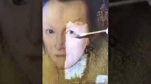 Así recupera el color un cuadro de hace cuatrocientos años gracias a un disolvente