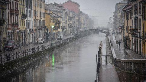 Nieva en Milán