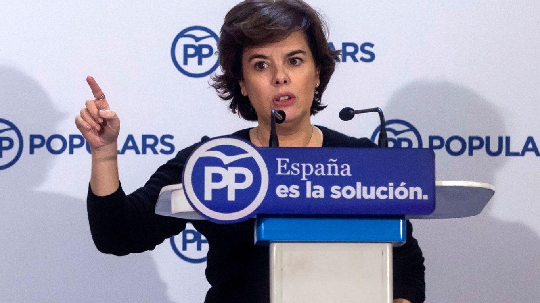 Sáenz Santamaría: Lo haremos todo para impedir la investidura de Puigdemont