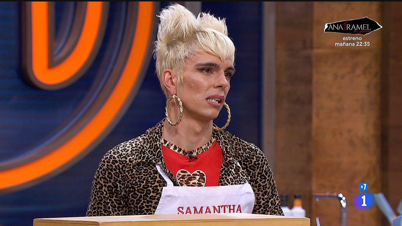 Samantha Hudson, en 'MasterChef Celebrity'. (TVE)