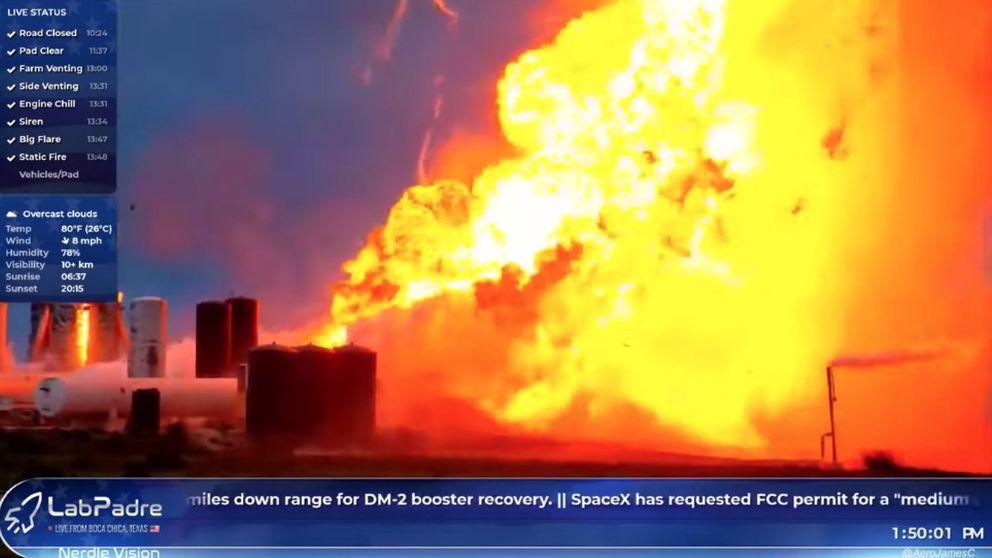 Un prototipo del cohete de SpaceX diseñado para ir a Marte explota durante una prueba