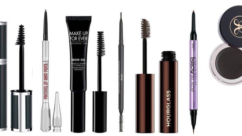 Productos de cejas para lograr las 'granny eyebrows' o cejas de abuela.