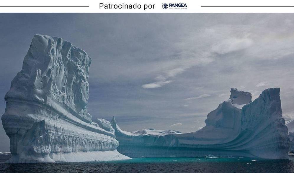 Foto: Uno de los impresionantes bloques de hielo del polo sur