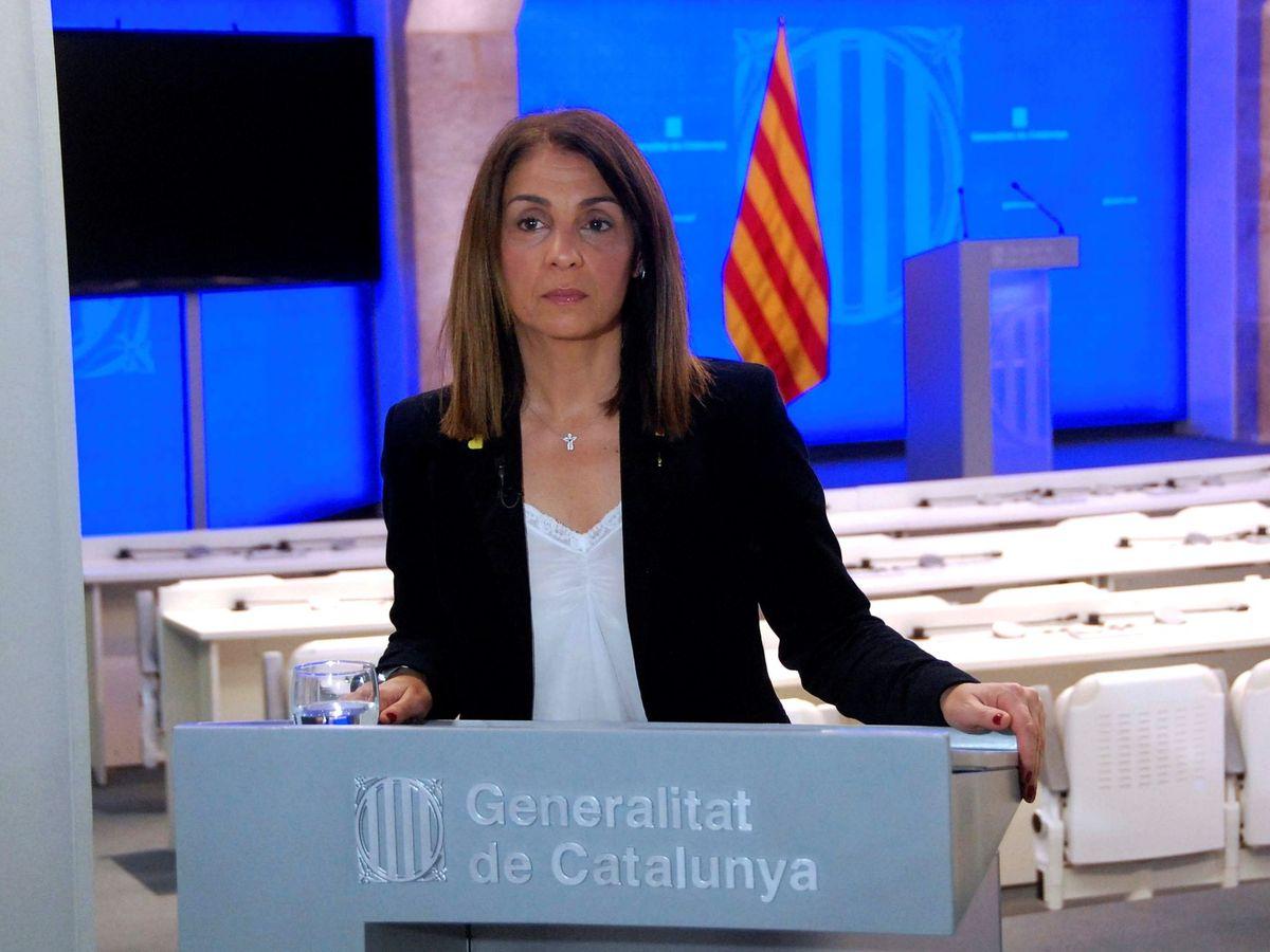 Foto: La 'consellera' de Presidencia y portavoz del Govern, Meritxell Budó. (EFE)