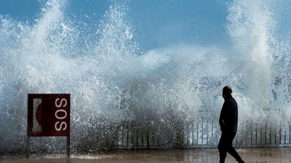 Foto: La borrasca Gloria ha cosechado olas de hasta 12 metros (EFE)