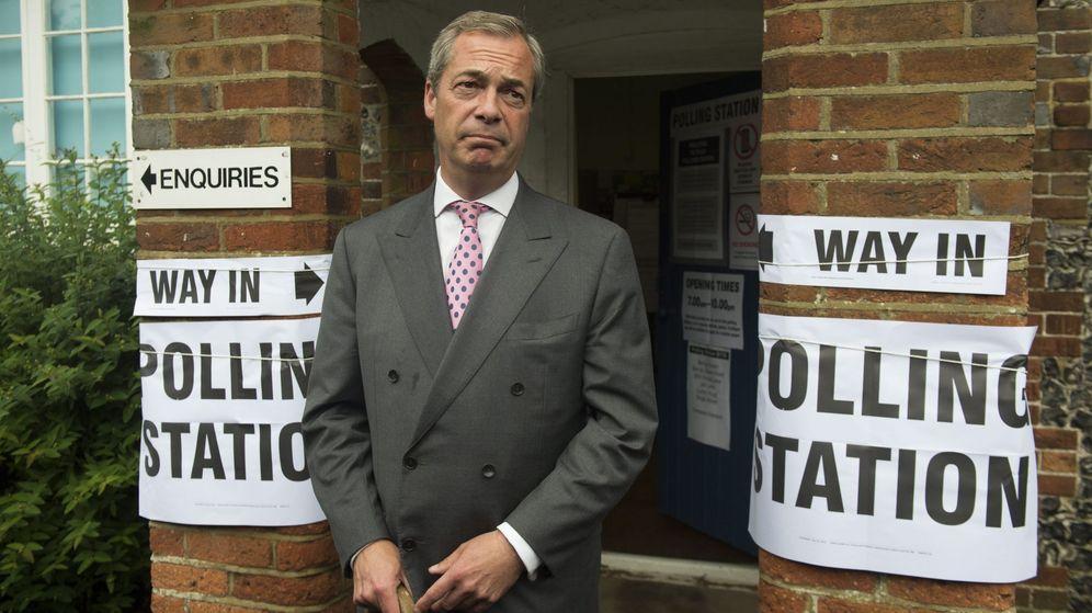 Foto: Farage publica un vídeo pidiendo que hoy sea el Día de la Independencia en Reino Unido (EFE)