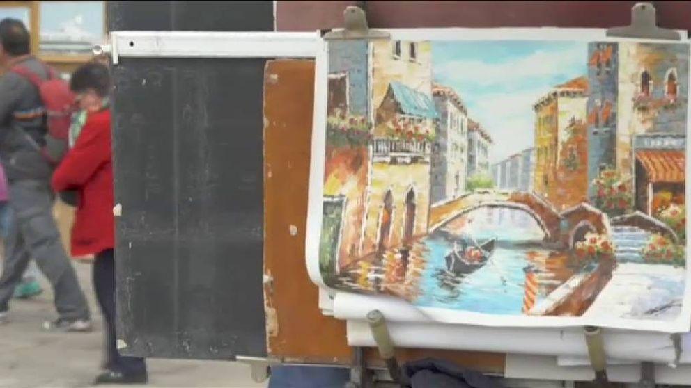 El artista británico Banksy revoluciona Venecia
