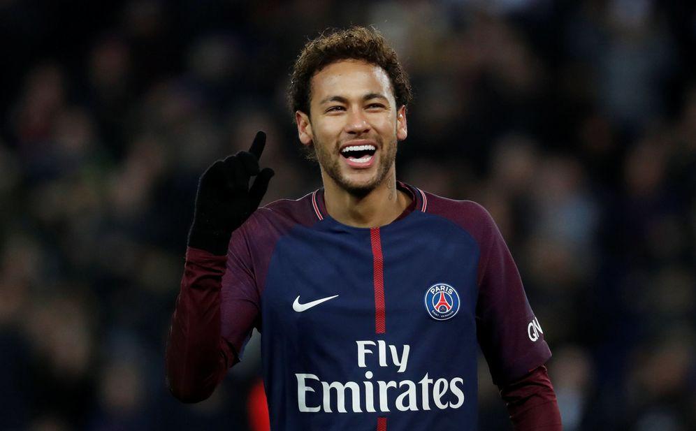 Foto: Neymar celebra un gol marcado con el PSG. (Reuters)