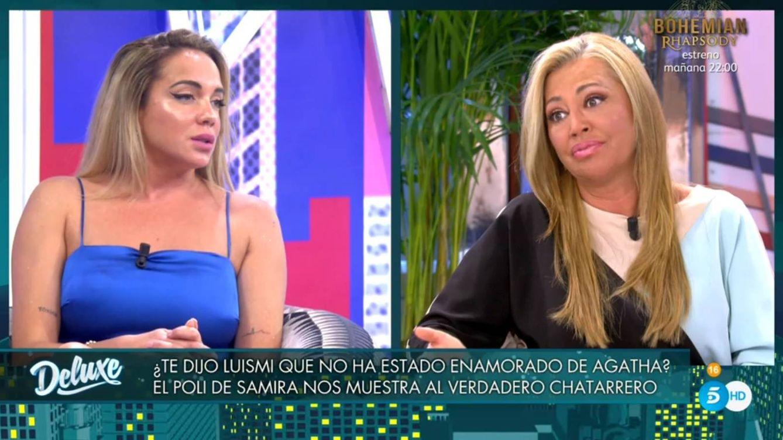 Belén Esteban atiza a Samira por su puñalada en el 'Deluxe' a Ágatha Ruiz de la Prada