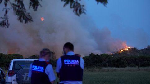 El incendio en el macizo del Montgrí (Girona) afecta ya a unas 110 hectáreas