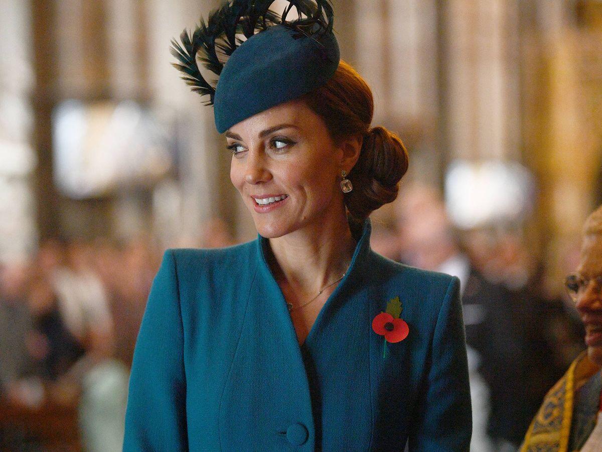Foto: Kate Middleton, con un diseño de Catherine Walker. (Getty)