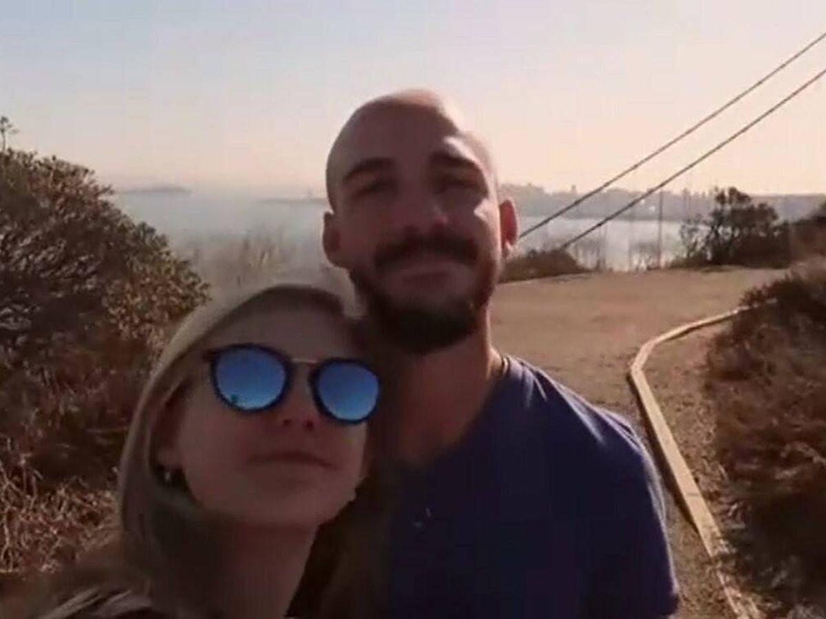 Foto: La desaparecida, Gabby Petito, junto a su novio, Brian Laundrie. (Atlas)