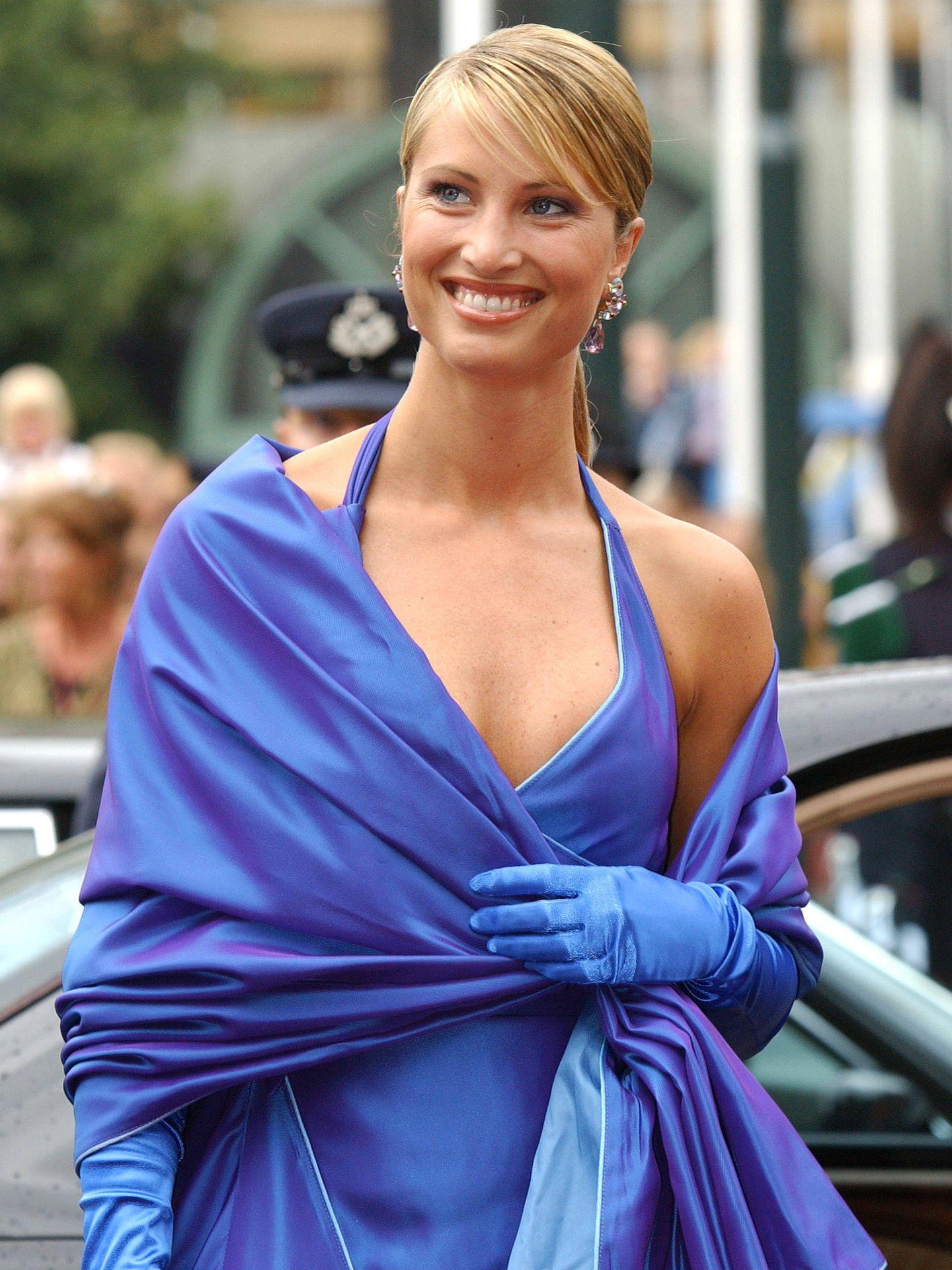 Eva Sannum, en la boda de Haakon y Mette-Marit. (Getty)