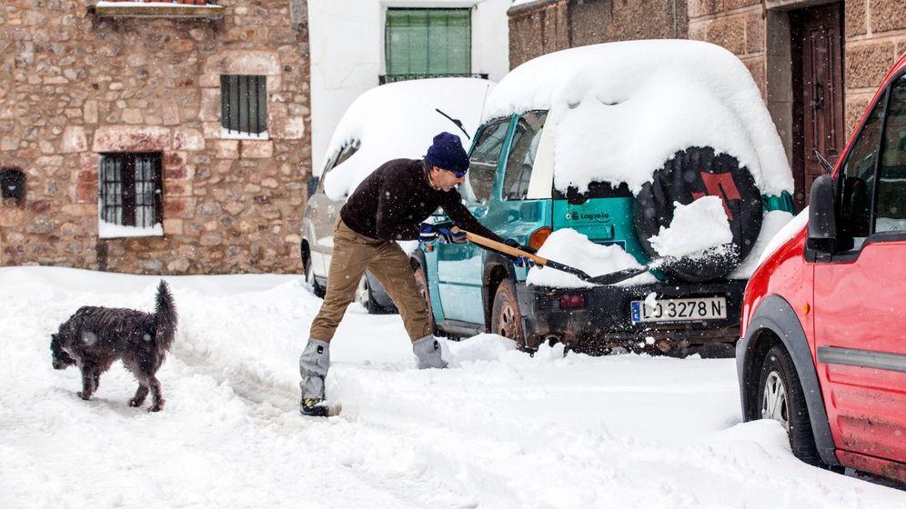 Foto: Temporal de nive en La Rioja. (Efe)