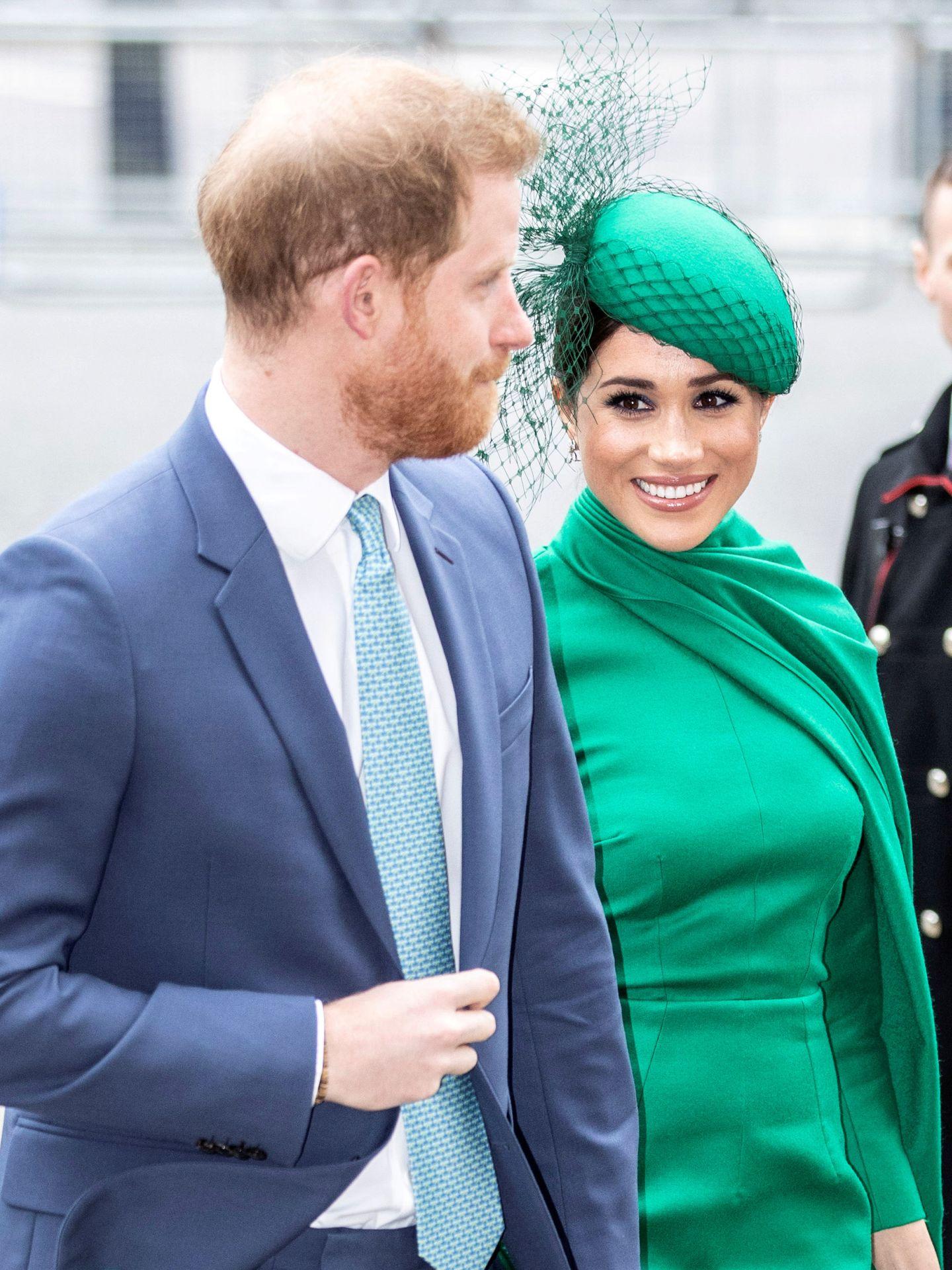 Los Sussex, en su último acto como royals. (Reuters)