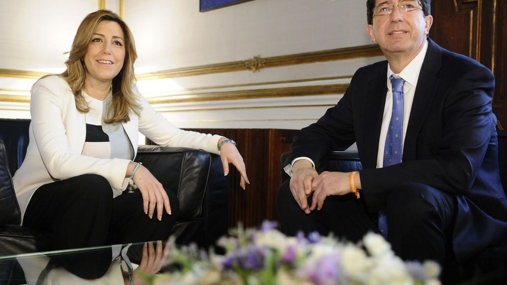 Foto: La presidenta en funciones de la Junta de Andalucía, Susana Díaz, junto al líder de Ciudadanos, Juan Marín. (EFE)