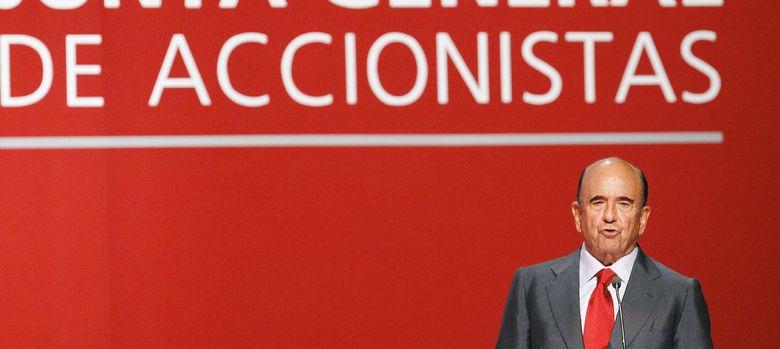 Foto: El presidente del Banco Santander, Emilio Botín (EFE)