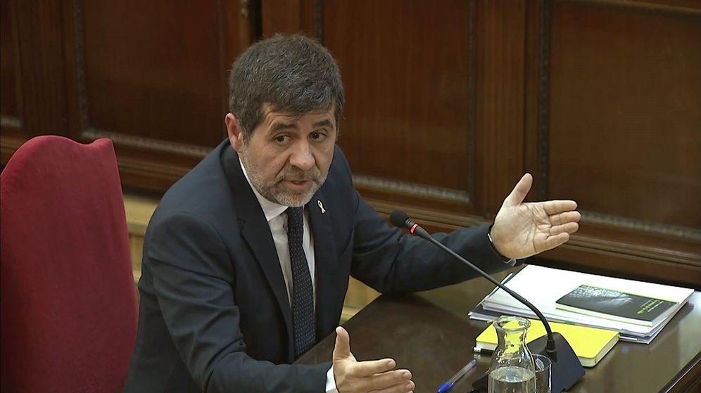 Foto: El expresidente de la ANC Jordi Sànchez en el juicio del 'procés'. (EFE)