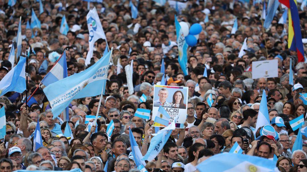 Foto: Imagen de un acto de campaña del actual presidente de Argentina, Mauricio Macri. (Reuters)