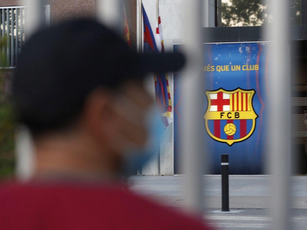 Foto: Entrada a las oficinas del FC Barcelona. (EFE)