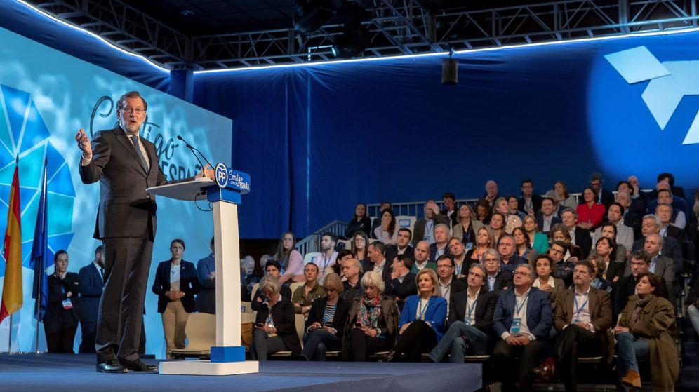 Foto: Mariano Rajoy, durante su intervención en el acto de clausura de la convención nacional del PP. (EFE)