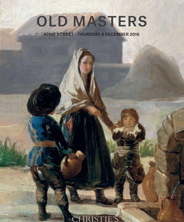 Foto: El Goya en la portada del catálogo de Christie's de la subasta del 8 de diciembre.