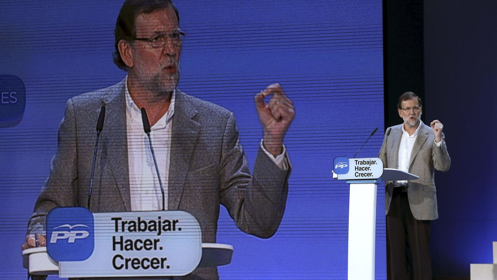 Foto: Rajoy, durante la presentación del Programa Marco autonómico. (Efe)