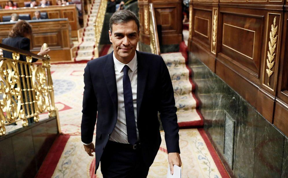 Foto: El presidente del Gobierno, Pedro Sánchez, este 19 de septiembre en el pleno del Congreso. (EFE)