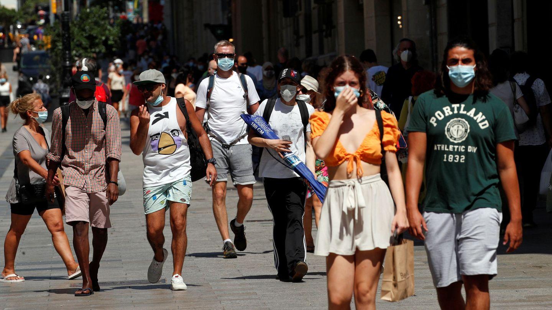 Una calle de Barcelona, el pasado 27 de julio. (Reuters)