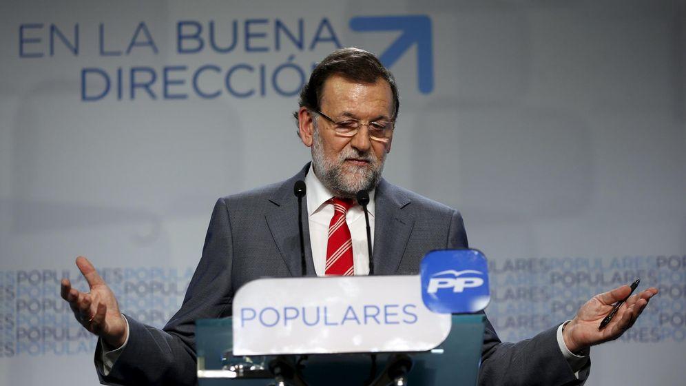 Foto: El presidente Mariano Rajoy durante la rueda de prensa que ofreció ayer